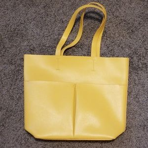 neiman marcus yellow tote bag